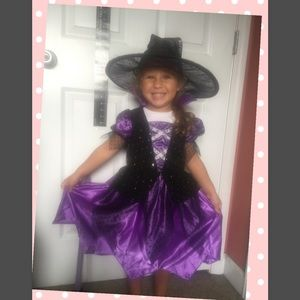 Other - Toddler's Witch Halloween Costume hat and broom